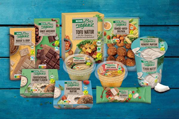 REWE Produkte Auswahl vegan klimaneutral